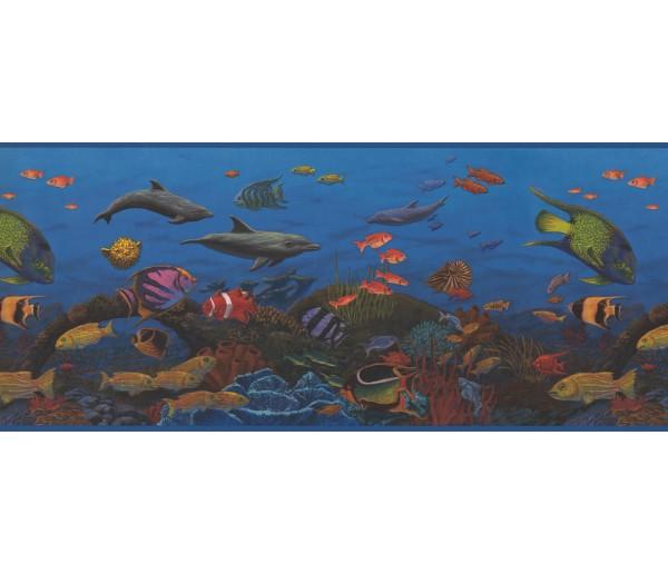 Sea World Borders 10143 CK Sea World Wallpaper Border York Wallcoverings