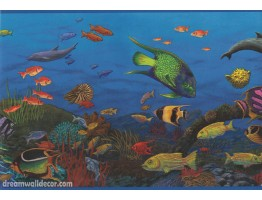 10143 CK Sea World Wallpaper Border