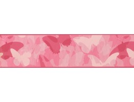 6 in x 15 ft Prepasted Wallpaper Borders - Butterfly Wall Paper Border CK7659