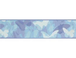 6 in x 15 ft Prepasted Wallpaper Borders - Butterfly Wall Paper Border CK7660