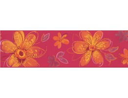Prepasted Wallpaper Borders - Floral Wall Paper Border CK7701