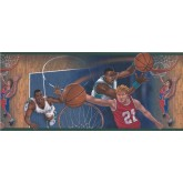 Basketball Green Basketball Close Up Shots Wallpaper Border York Wallcoverings