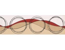 Brown Circled Design Wallpaper Border