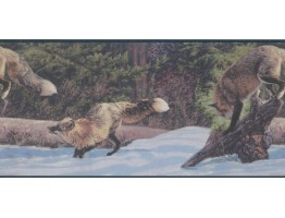 Prepasted Wallpaper Borders - Arctic Icy Fox Wall Paper Border
