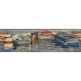 Landscape Wallpaper Borders: GBoats in the lake Wallpaper Border