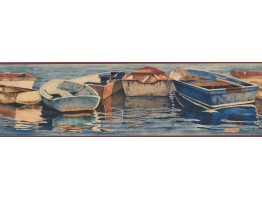 7 in x 15 ft Prepasted Wallpaper Borders - GBoats in the lake Wall Paper Border