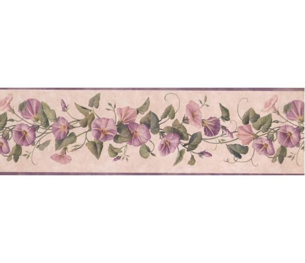 Floral Wallpaper Borders: Lavender DW30083B Floral Wallpaper Border