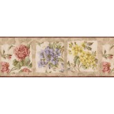 Garden Wallpaper Borders: Frame Blue Yellow Tiny Flowers Wallpaper Border
