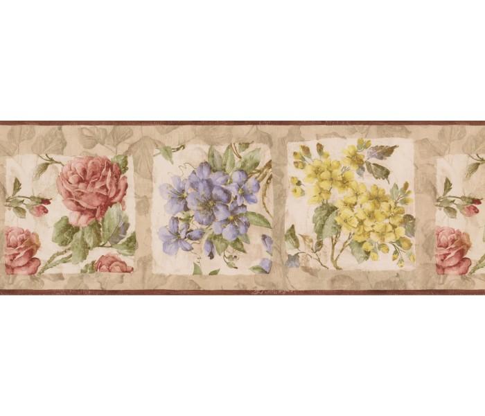 Garden Wallpaper Borders: Frame Blue Yellow Tiny Flowers Wallpaper Border