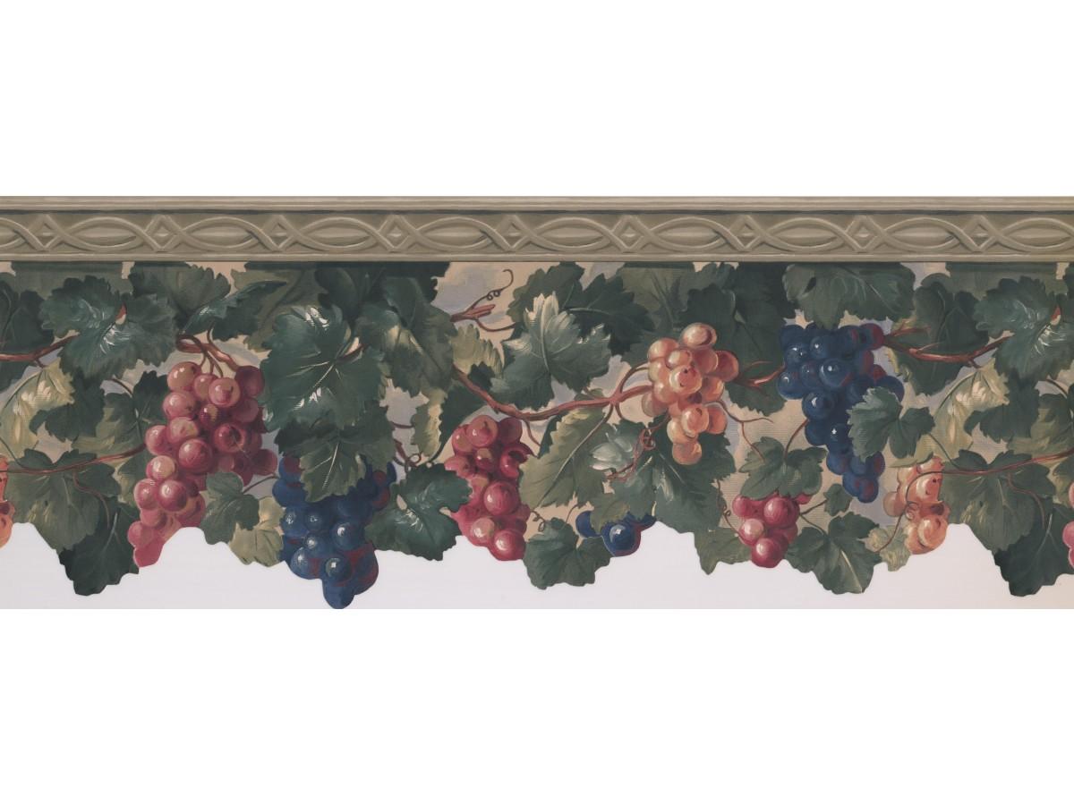 Grapes Wallpaper Border