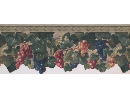 Prepasted Wallpaper Borders - Grapes Wall Paper Border