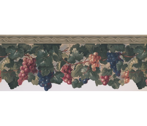 Garden Wallpaper Borders: Grapes Wallpaper Border