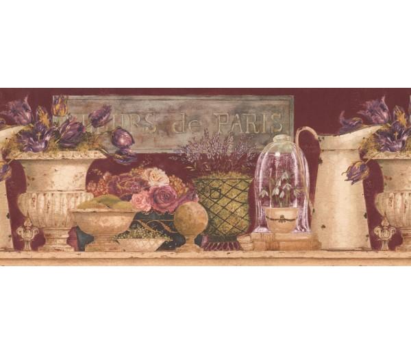 Garden Wallpaper Borders: Floral Wallpaper Border EU4771