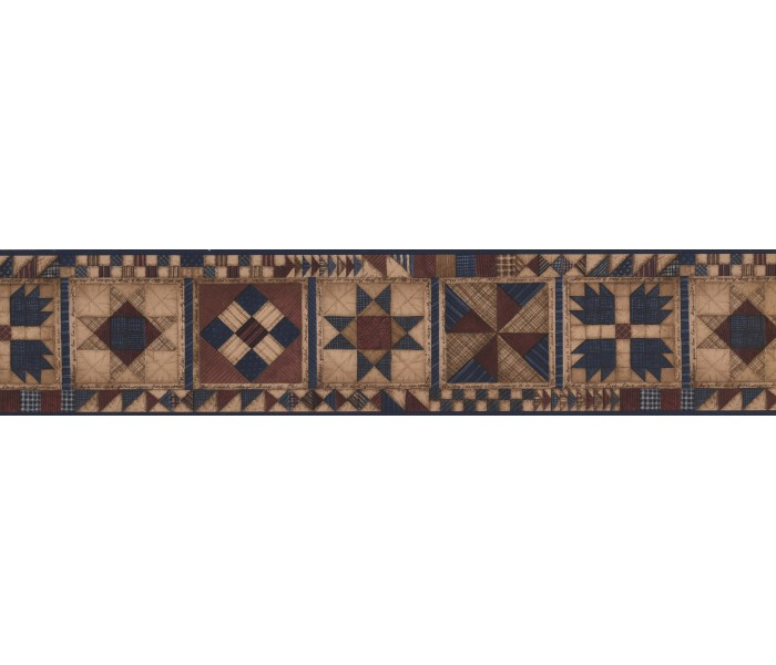 Clearance: Checked Square desin pattern Wallpaper Border