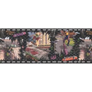 9 in x 15 ft Prepasted Wallpaper Borders - Kids Wall Paper Border FB075121
