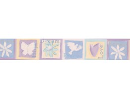 Purple Dove Dreams Wallpaper Border