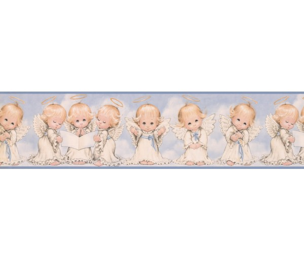 Faith and Angels Wallpaper Borders: White Baby Angels Wallpaper Border