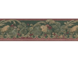Prepasted Wallpaper Borders - Fruits Wall Paper Border FFB2584