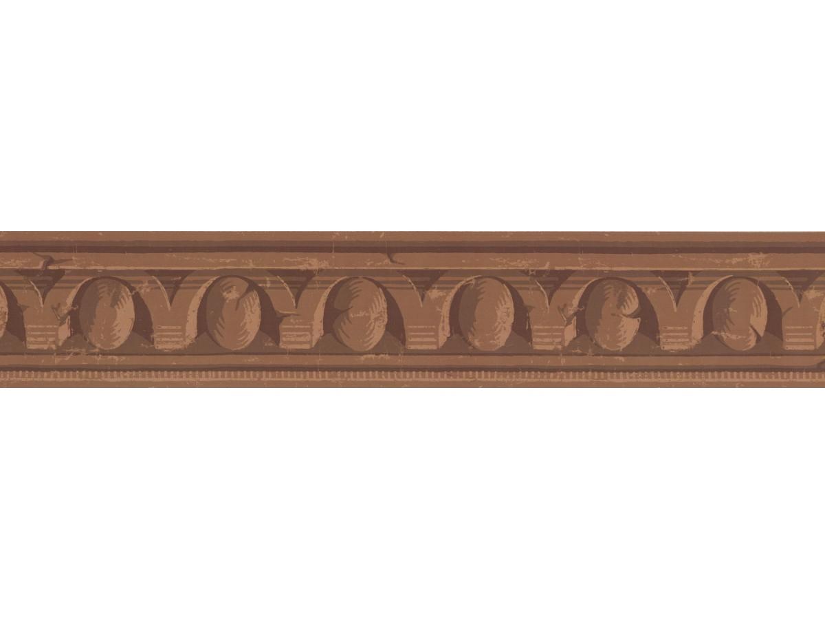 Brown Twisted Metal Wallpaper Border