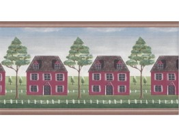 5 in x 15 ft Prepasted Wallpaper Borders - Wooden Country House Wall Paper Border