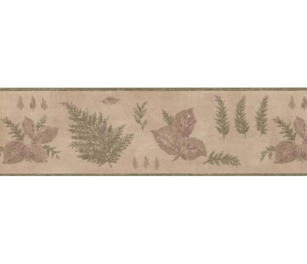 Garden Wallpaper Borders: Green Botanical Leaves Wallpaper Border