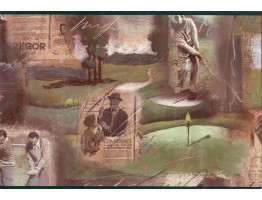 Prepasted Wallpaper Borders - Golf Wall Paper Border GF7108