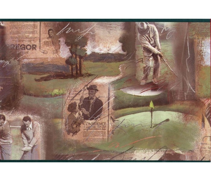 Golf Wallpaper Borders: Golf wallpaper Border GF7108