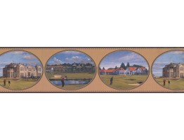 Prepasted Wallpaper Borders - Golf Wall Paper Border GF7129