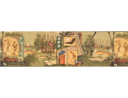 Prepasted Wallpaper Borders - Golf Wall Paper Border GF7135BD