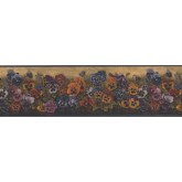 Floral Borders Yellow Floral Pansies Wallpaper Border York Wallcoverings
