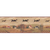 Country Wallpaper Borders: Black Country Cows Wallpaper Border
