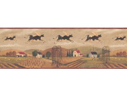 9 in x 15 ft Prepasted Wallpaper Borders - Black Country Cows Wall Paper Border