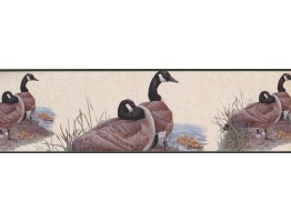 Prepasted Wallpaper Borders - GOOSE Family Wall Paper Border