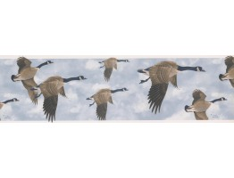 Prepasted Wallpaper Borders - GLEN LOATES CANADIAN GEESE Wall Paper Border