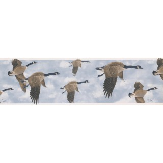 7 in x 15 ft Prepasted Wallpaper Borders - GLEN LOATES CANADIAN GEESE Wall Paper Border