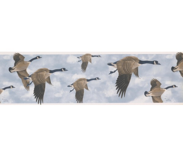 Birds  Wallpaper Borders: GLEN LOATES CANADIAN GEESE Wallpaper Border