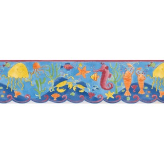 7 in x 15 ft Prepasted Wallpaper Borders - Under Sea World Wall Paper Border