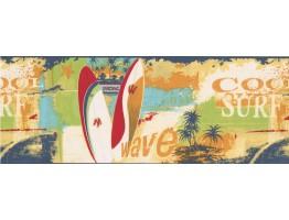 Cool Surf Wallpaper Border