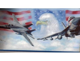 Prepasted Wallpaper Borders - US Airforce Wall Paper Border