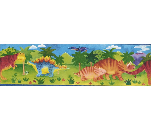Clearance: Kids Green Dino Wallpaper Border