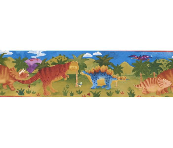 Disney Wallpaper Borders: Kids River Green Dino Wallpaper Border