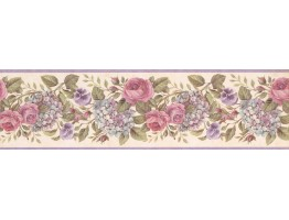 Prepasted Wallpaper Borders - Floral Wall Paper Border GU92103