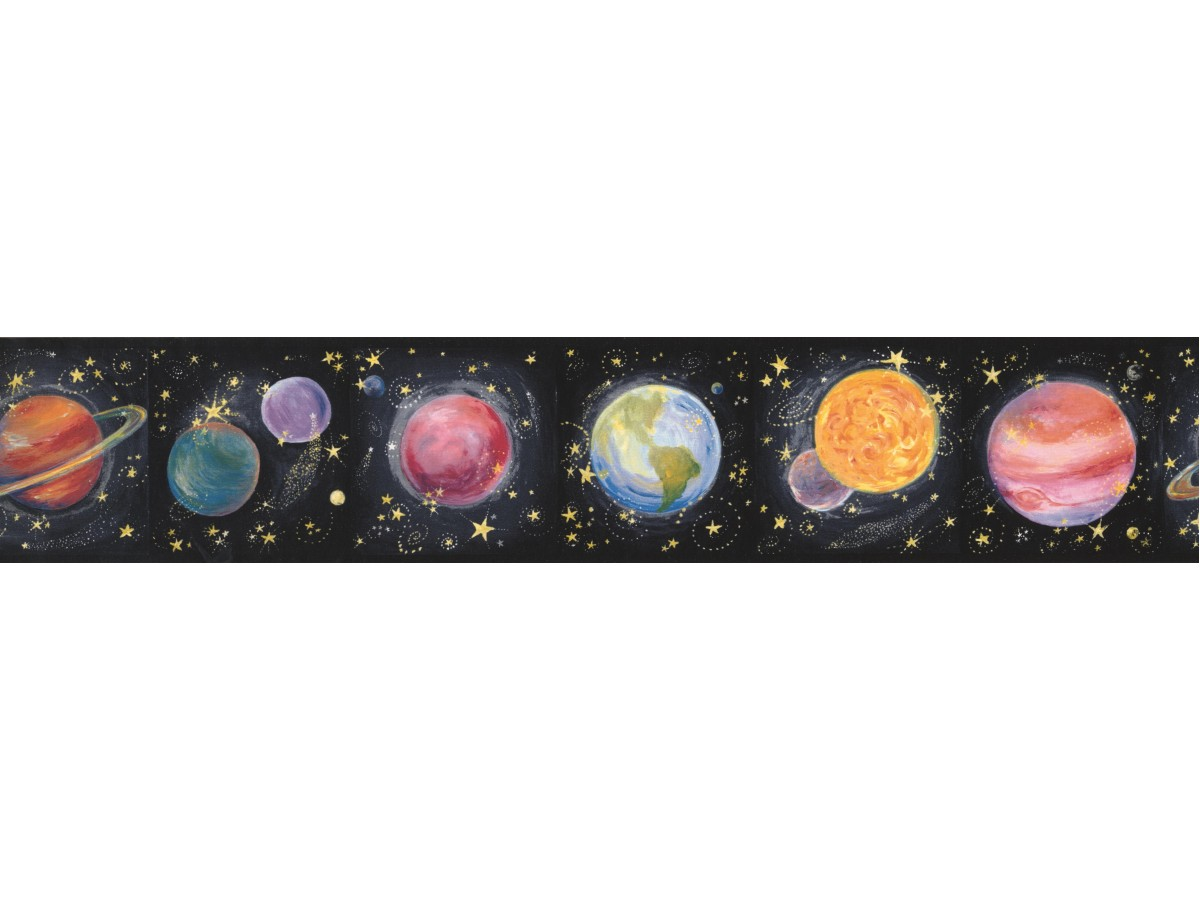 Sun Moon Stars Borders Earth Star Planet Wallpaper Border