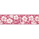 Clearance: White Hibiscus Wallpaper Border