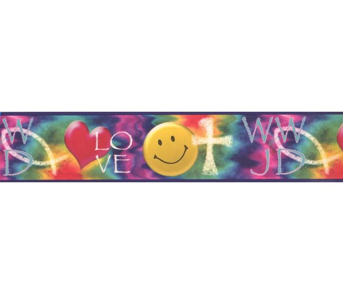 Kids Wallpaper Borders: Smiley Love Wallpaper Border