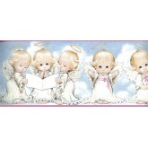 Faith and Angels Wallpaper Borders: White Baby Angels Blessing Wallpaper Border