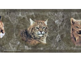Brown Wild Cats Wallpaper Border