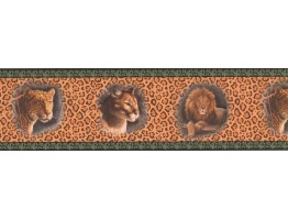 7 in x 15 ft Prepasted Wallpaper Borders - Black Cheetah Animal Wall Paper Border