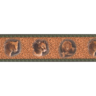 7 in x 15 ft Prepasted Wallpaper Borders - Black Cheetah Animal Wall Paper Border