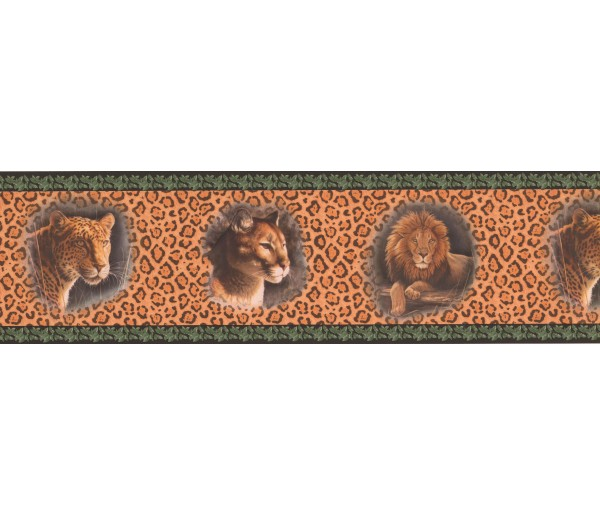 Jungle Wallpaper Borders: Black Cheetah Animal Wallpaper Border